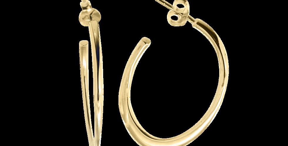 Ovale hoops - ovale creoler - forgyldte øreringe