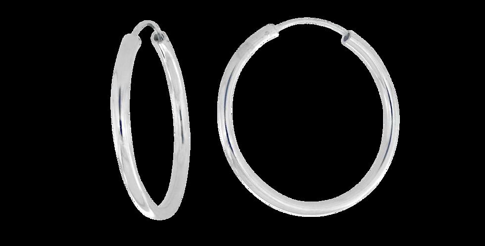 Klassiske sølvcreoler - 40 mm