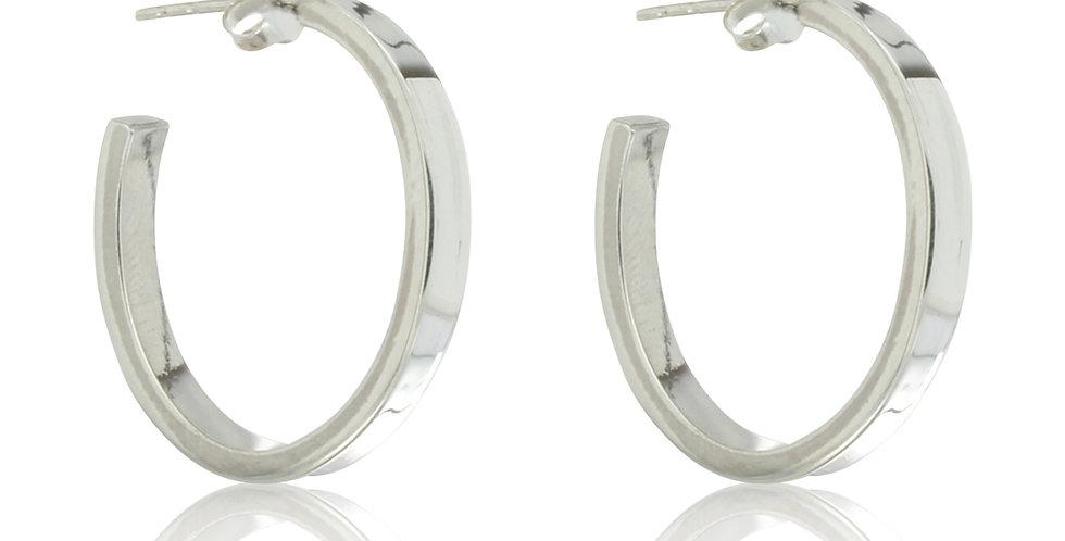 Ovale sølvcreoler