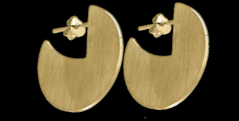 Forgyldte ørestikkere med skiver - pacman-øreringe - gyldne øreringe