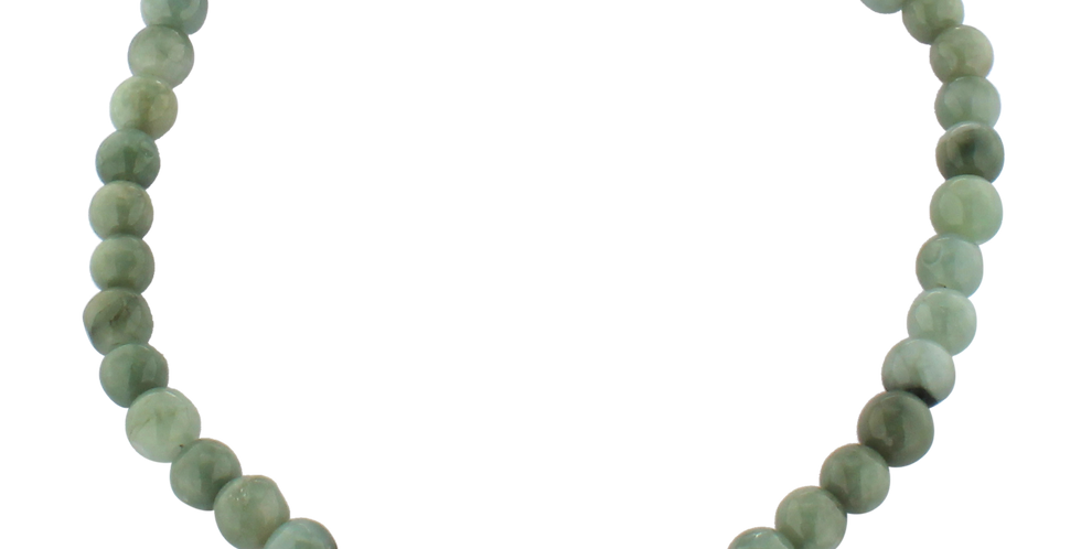 Halskæde med grønne jadebeads