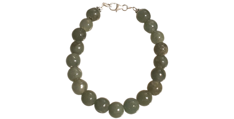 Armbånd med dybgrøn jade