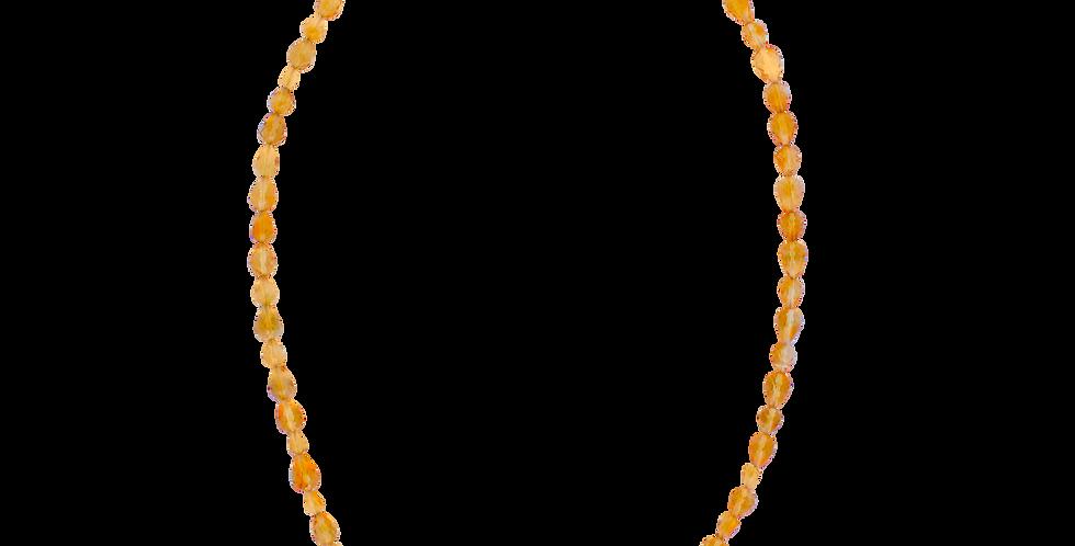 Halskæde med citrin - gul halskæde