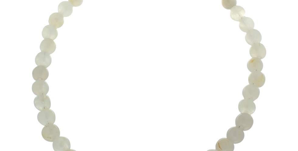 Halskæde med hvid jade