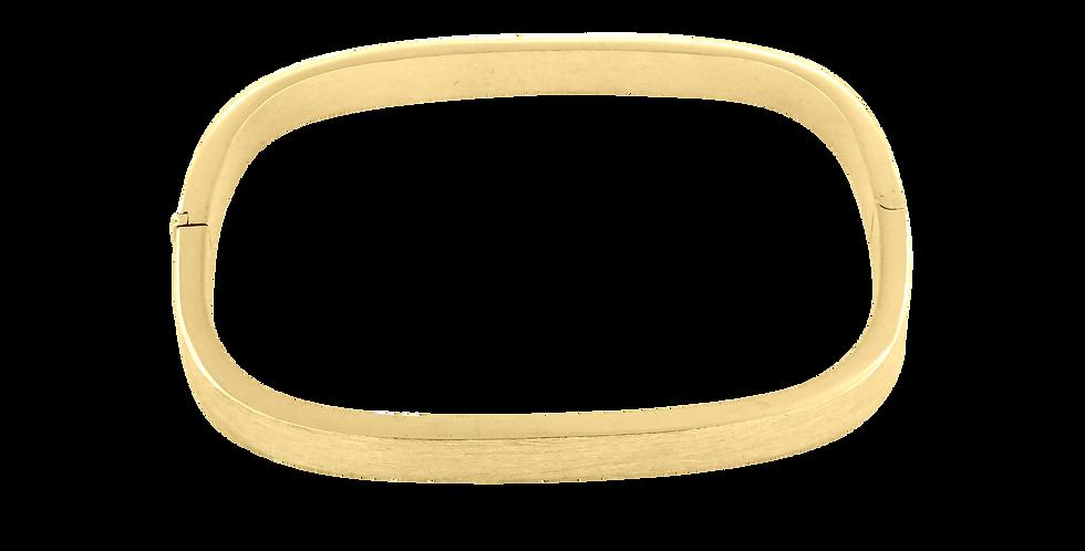 Forgyldt firkantet fast armbånd