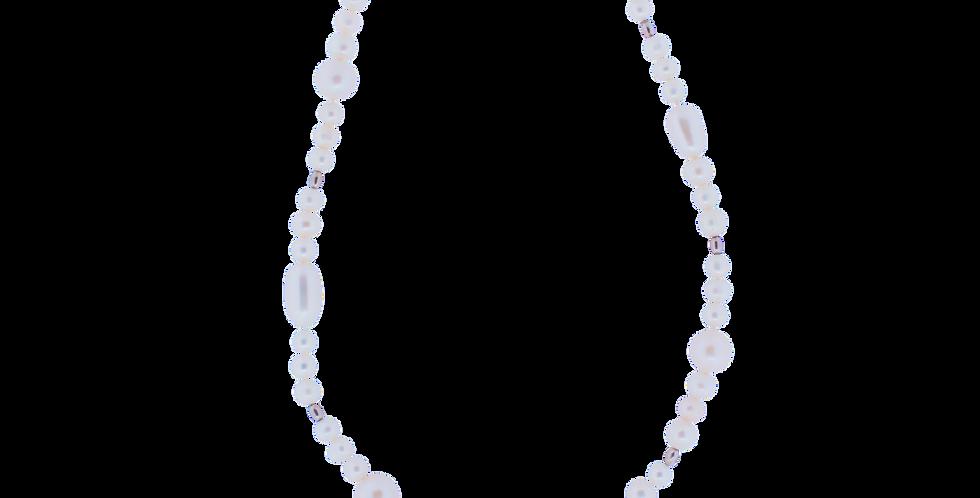 Halskæde med varierende perler - ekstra længde
