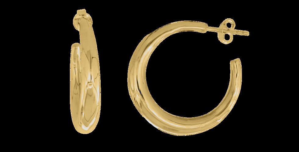 forgyldte creoler med bred ringskinne - forgyldte hoops