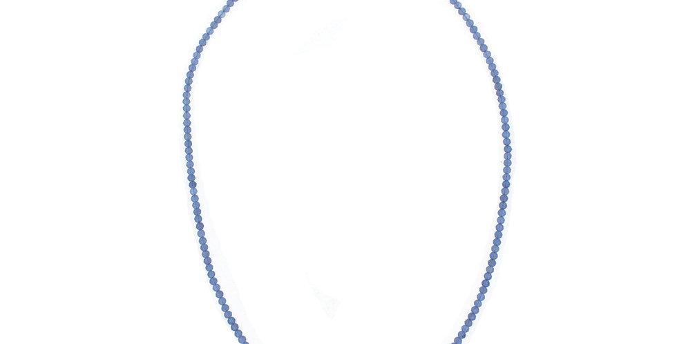 Halskæde med små bitte labradorit - halskæde med grå sten