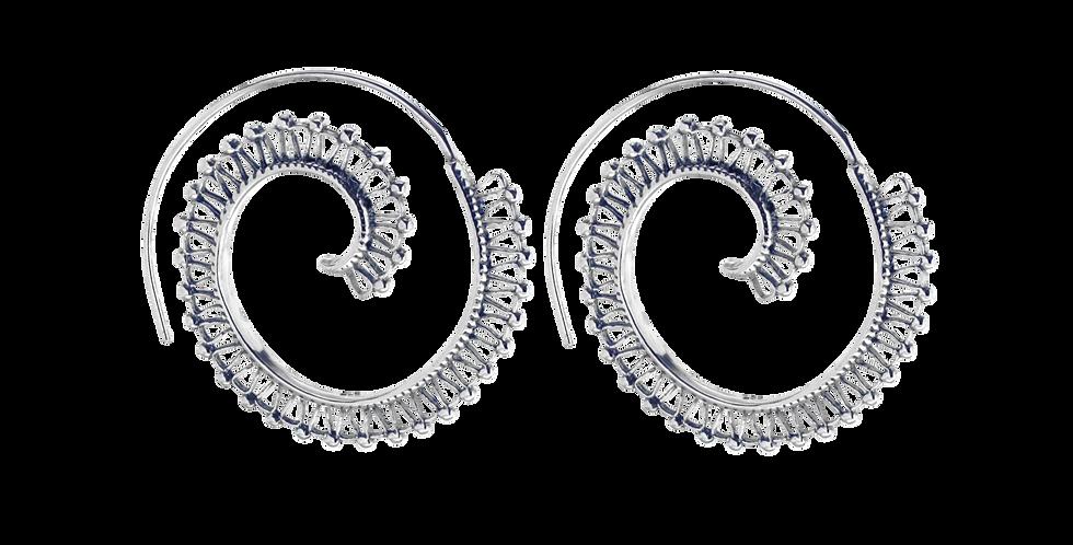 Spiralformet oxyderet sølvcreoler