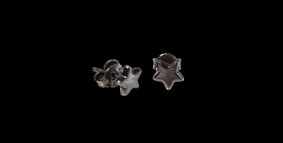 Oxyderede øreringe med stjerner