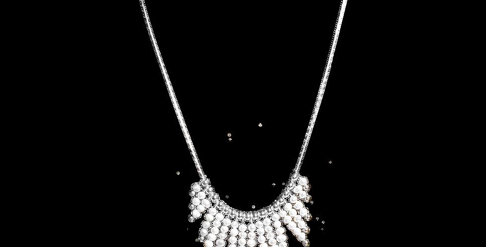 Sølvhalskæde med små perler - Elegance