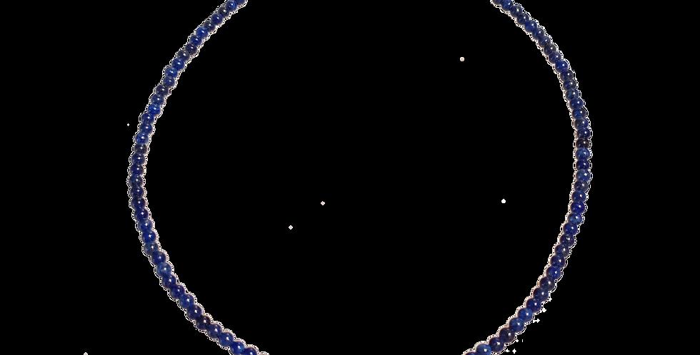 Halskæde med små beads af lapis lazuli