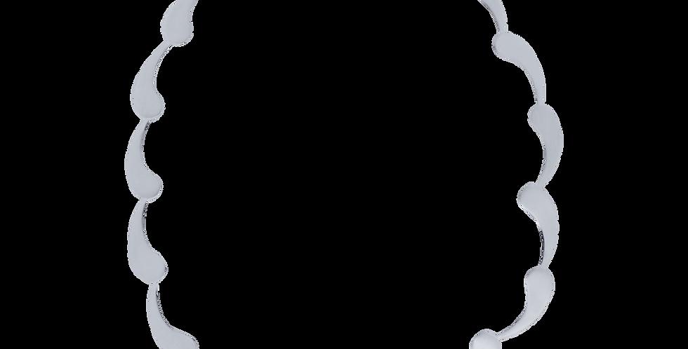 Børstet sølvhalskæde i bølgedesign