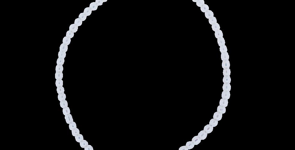 Perlehalskæde med små perler
