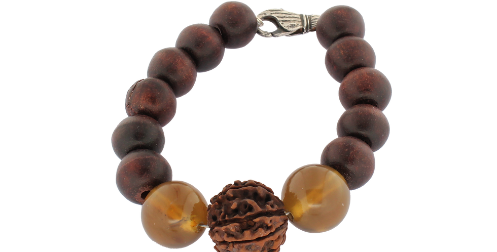Buddha/Mala armbånd med Rudraksha til mænd