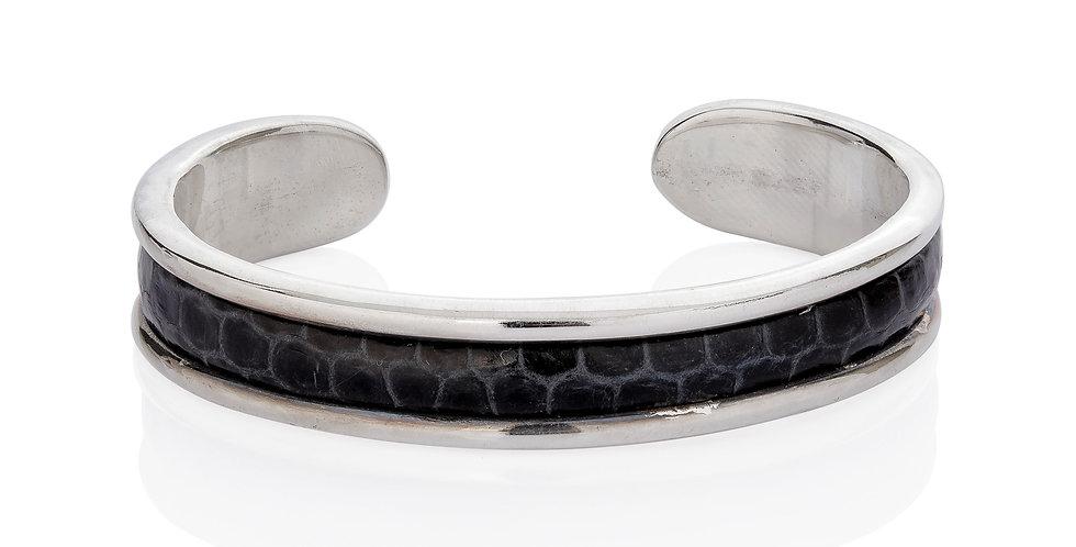 Herrearmbånd med slangeskind - sølvarmbånd til mænd
