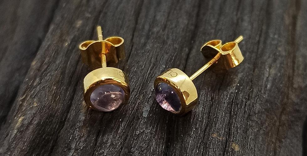 8 kt. guldørestikkere med iolit