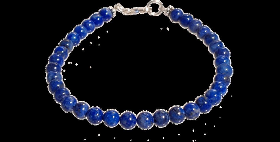 Armbånd med lapis lazuli beads