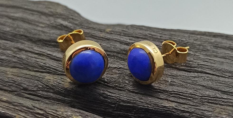 14 kt. guldørestikkere med lapis lazuli