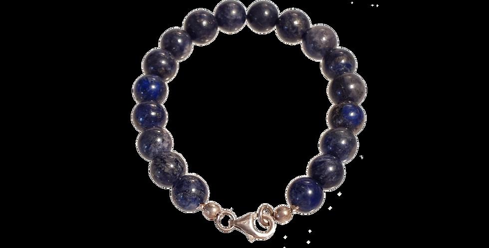 Armbånd med  lapis lazuli - midnat