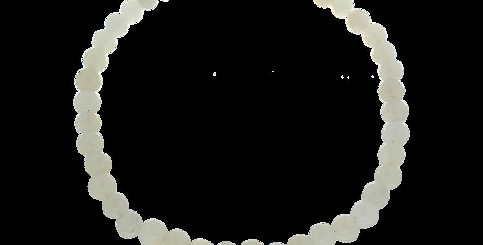 Halskæde med hvide jadebeads