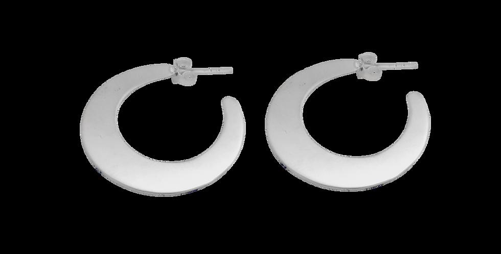 Sølvcreoler - Brede hoops