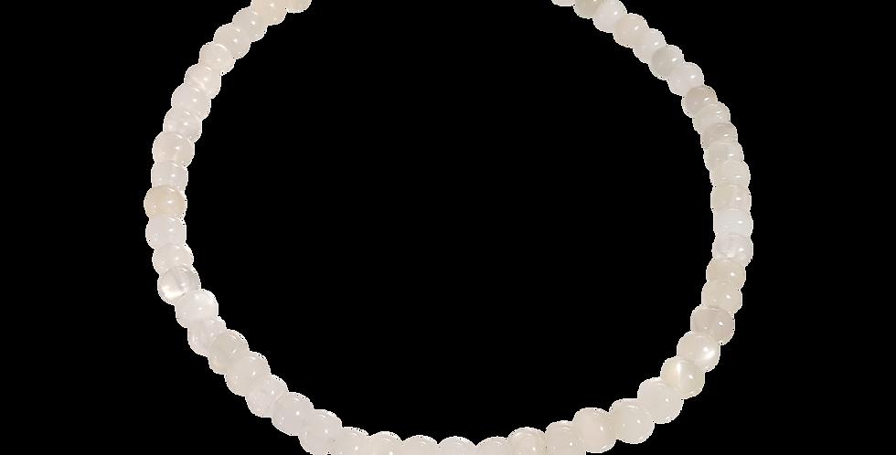 Halskæde med hvid/transparent jade