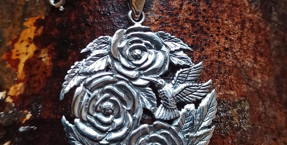 Slangehalskæde med sølvvedhæng