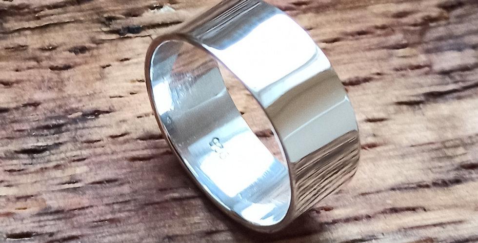 Bred enkel sølvring