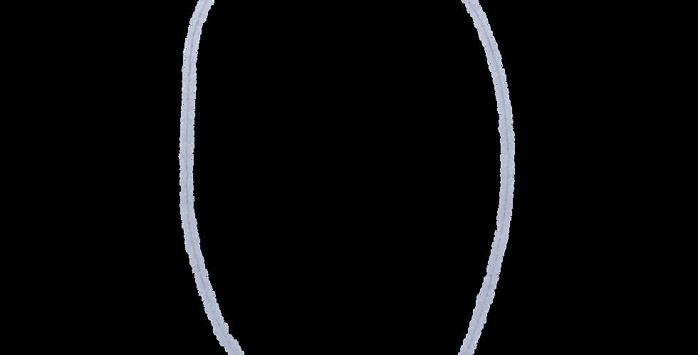 Halskæde med rosakvarts - smykker med rosakvarts