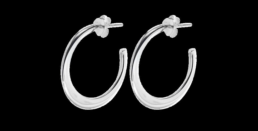 Blanke sølvcreoler med stikker