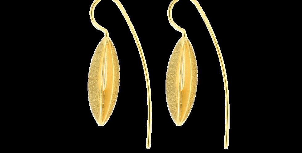 Forgyldte øreringe i frugtdesign