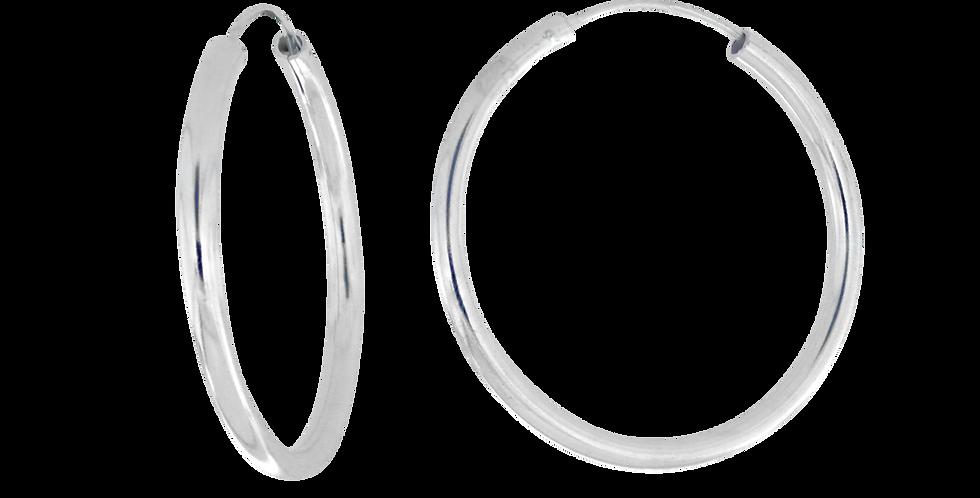 Klassiske sølvcreoler - 55 mm