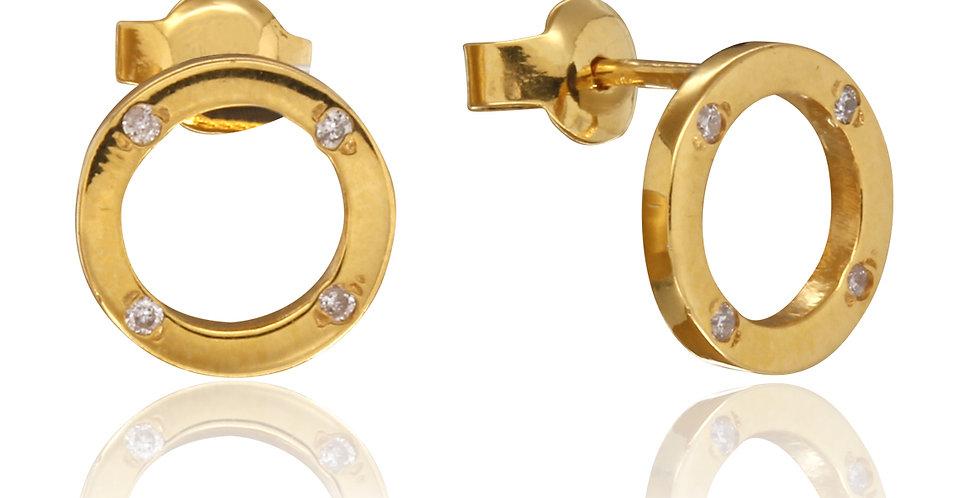 Guldøreringe med diamant - øreringe med diamanter - guldsmykker