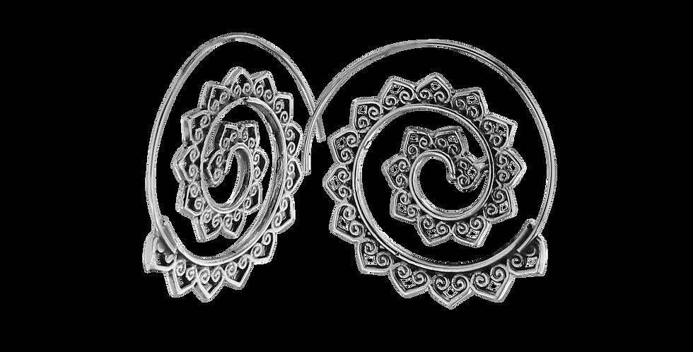 Sølvcreoler med blomsterblade - blossom