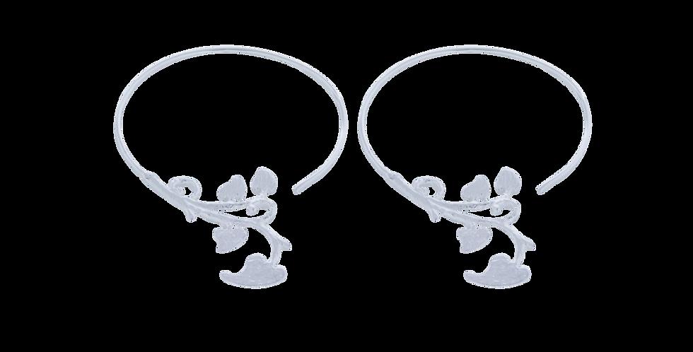 sølvcreoler med hjerter - spirrevipøreringe - sølvøreringe med hjerter