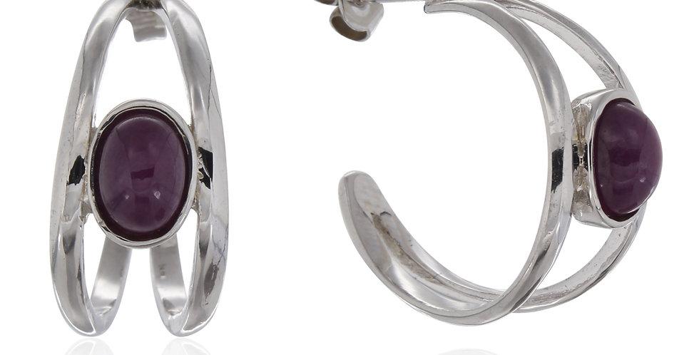 Rubinsmykker, smykker med rubin, sølvøreringe, øreringe, øreringe med rubiner