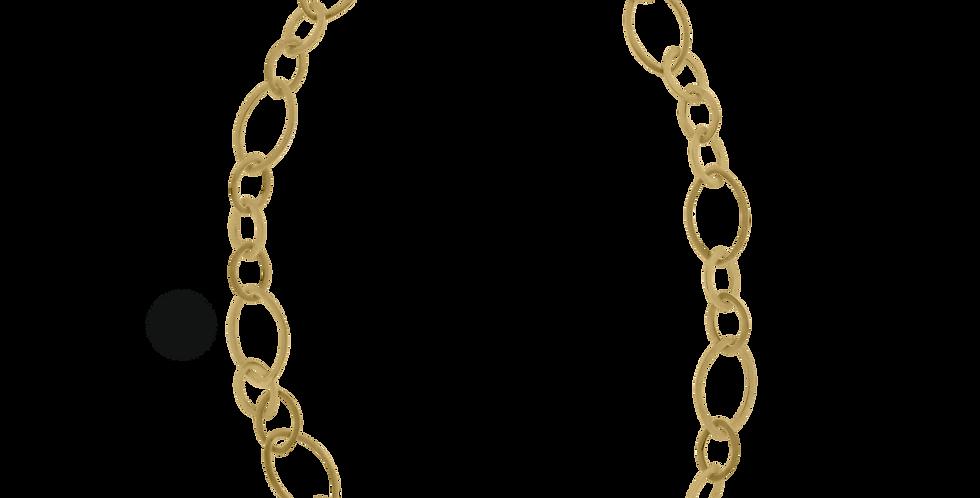 Forgyldt halskæde med led - halskæde med blade