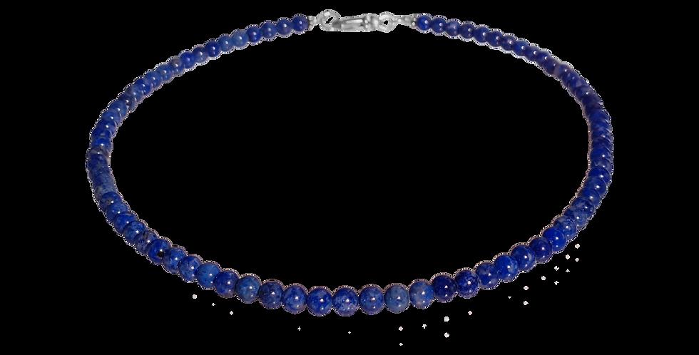 Halskæde med lapis lazuli