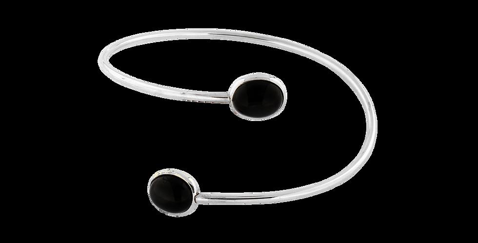 Sølvarmbånd med black star