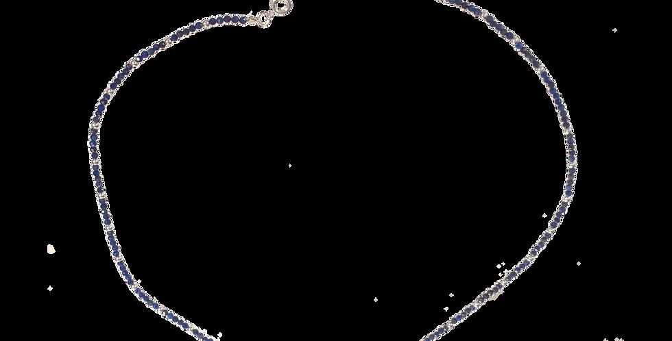 Halskæde med små lapis lazuli sten - Elegance