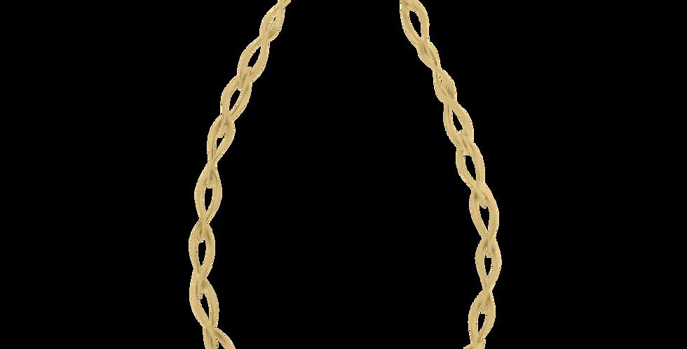 Forgyldt halskæde - chunky forgyldt halskæde med bladdesign