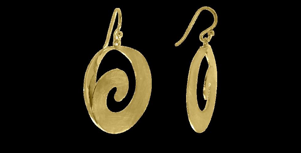 Forgyldte øreringe i nyt design