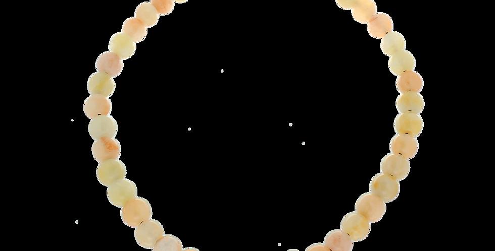Halskæde med lys jade i sarte nuancer