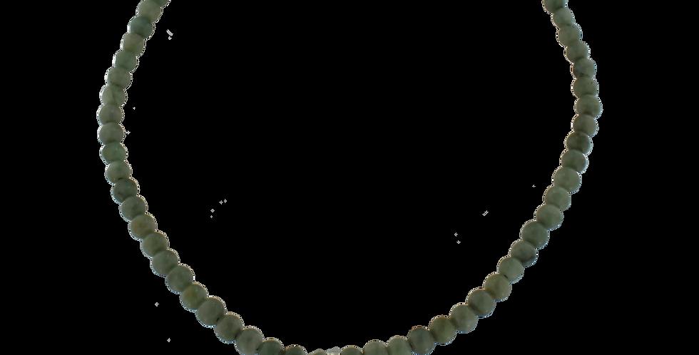 Halskæde med grøn jade og lotusvedhæng - Blossom