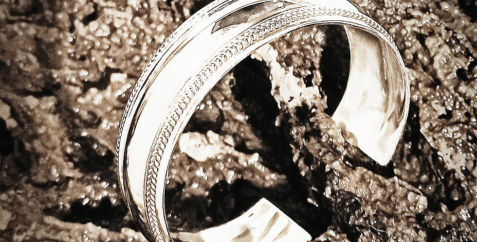 Sølvarmbånd i retrodesign