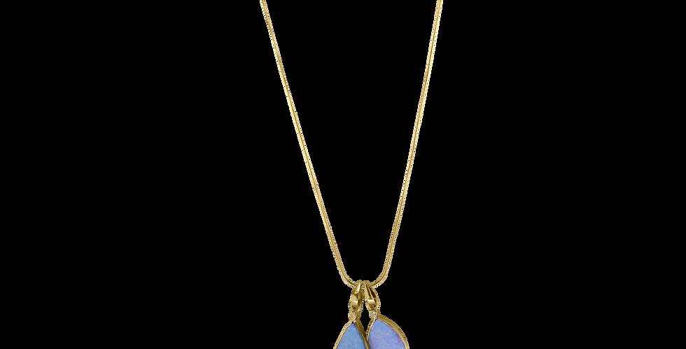 14 kt. Mor & barn halskæde med australsk opal - teardrop