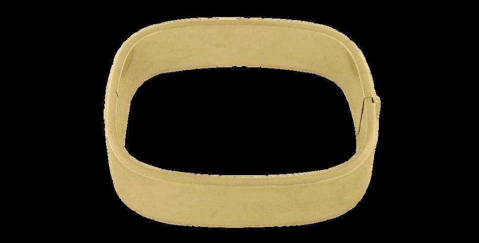Firkantet armbånd - forgyldt firkantet armbånd