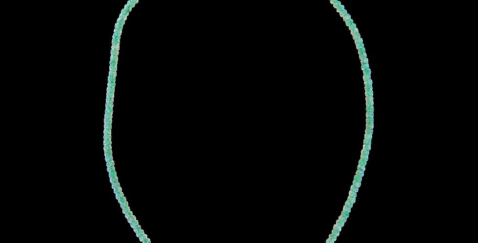 Grøn halskæde med jade - facetsleben