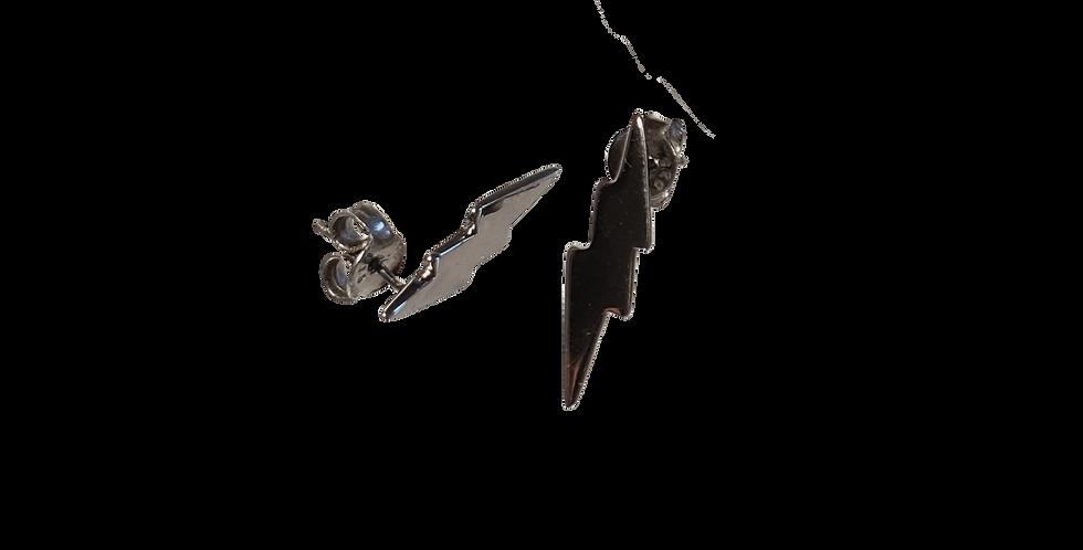 Sortrhodinerede ørestikkere med sorte lyn